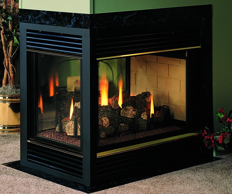 Vantage Hearth Direct Vent Gas Peninsula Fireplace