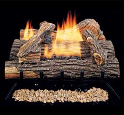comfort flame vent free gas log set biltmore split oak
