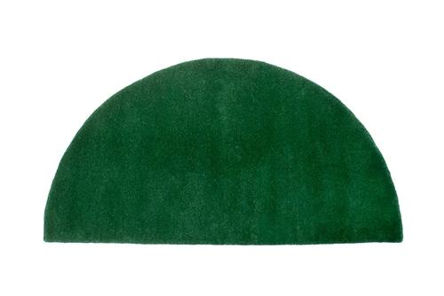 minuteman half round rug, nottingham green