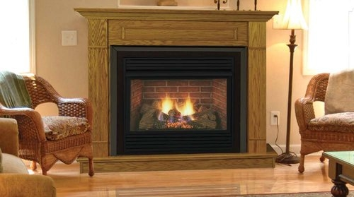 vent free gas fireplace safe logs lowes series installation
