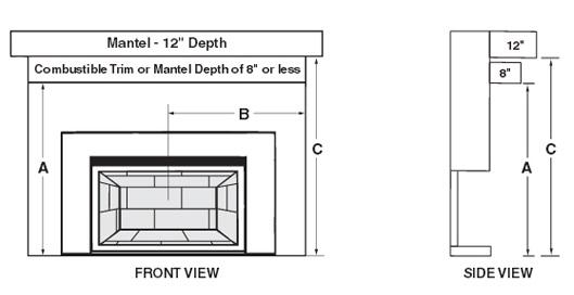 Fireplaceinsert Com Fireplace Gas Insert D1 36