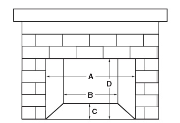 Fireplace Gas Insert D1-36