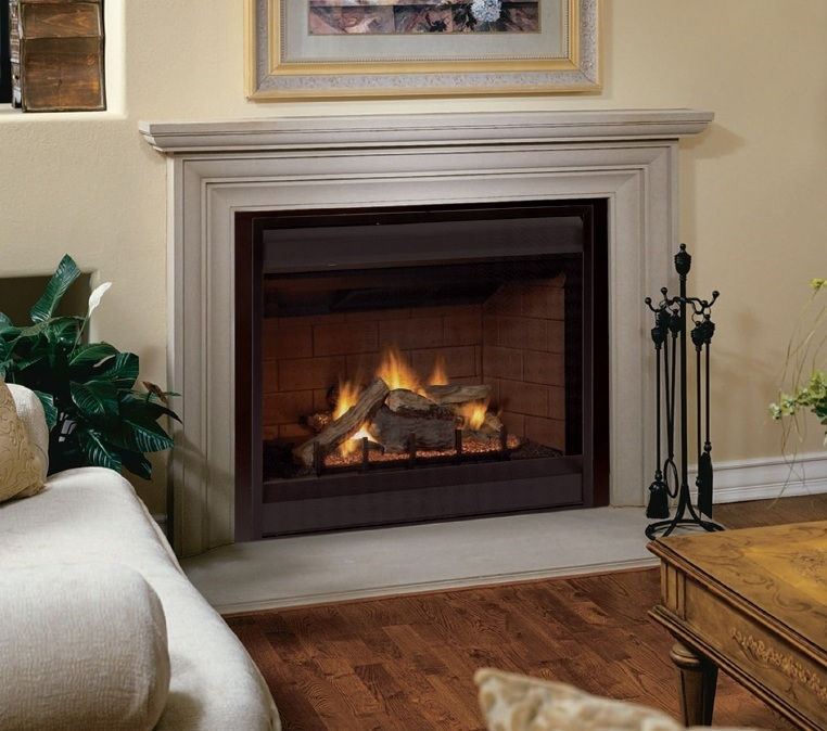FMI Products Direct Vent Gas Fireplace Tudor