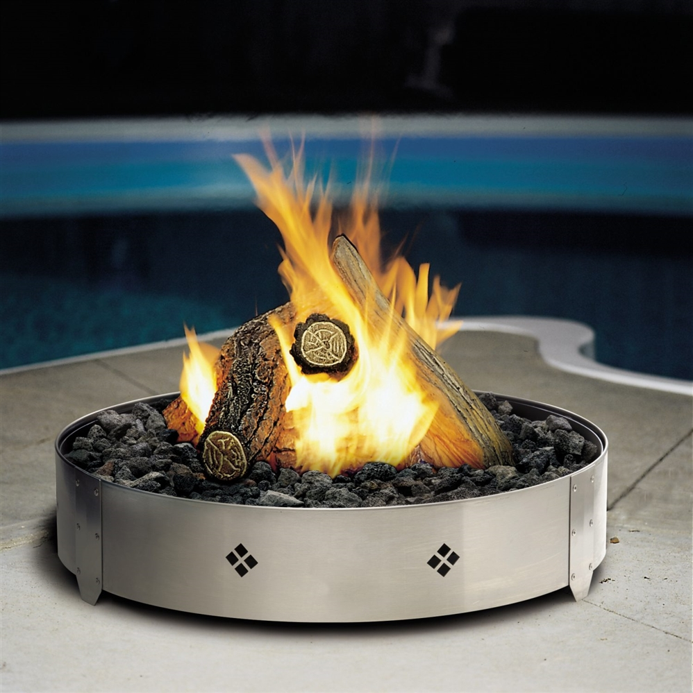 Kingsman Outdoor Round Gas Firepit Fp2085