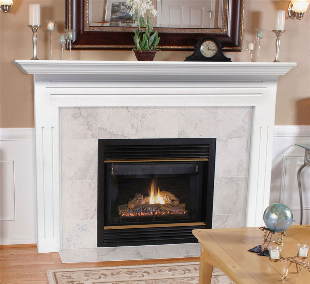 Mantels newport fireplace mantel for Wood fireplace surround designs