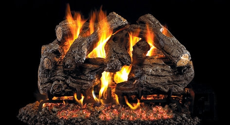 Peterson Real Fyre Vented Gas Log Set Burnt Heritage Oak