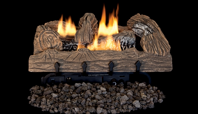 Superior Vent Free Gas Log Set Townsend Bark Lvd Tb