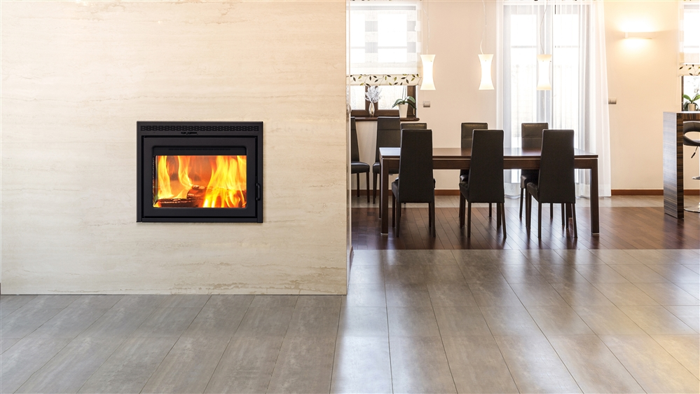 Supreme double sided fireplace for Open sided fireplace
