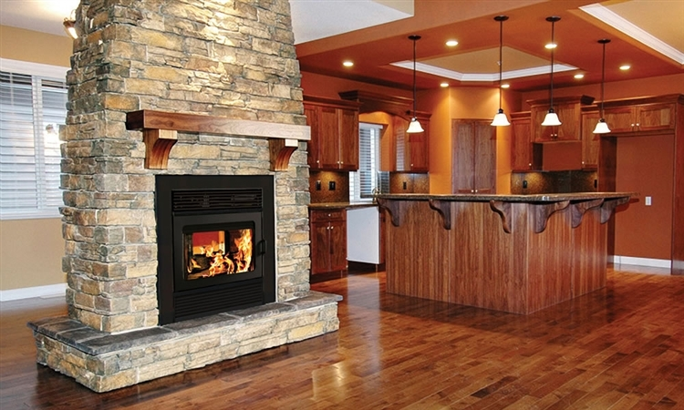 Supreme Opus Double Sided Fireplace, Double Sided Gas Fireplace Insert With Blower