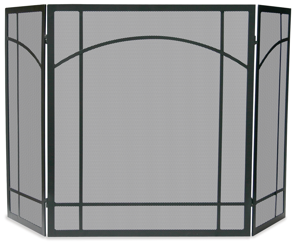 Admirable Uniflame 3 Fold Black Arch Top Mission Fireplace Screen Download Free Architecture Designs Photstoregrimeyleaguecom