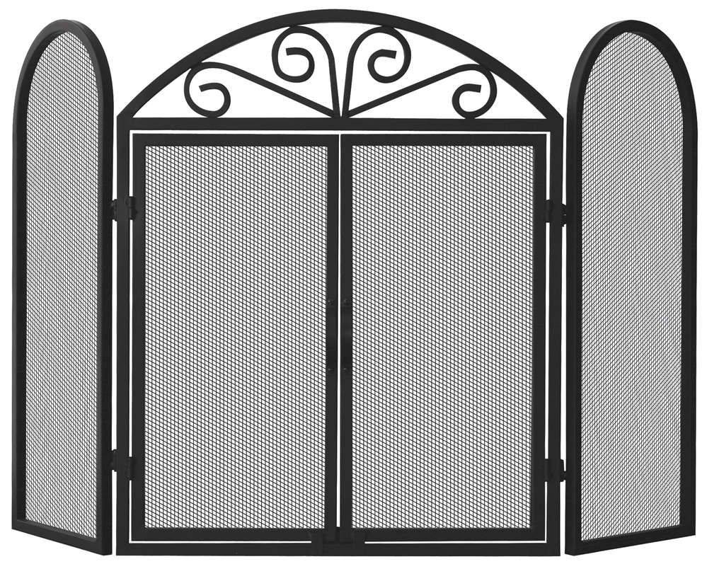inc fireplace screen shop accessories front free white ams industrial web standing