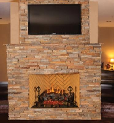 Vantage hearth bvent gas fireplace premium masonry for Vantage hearth