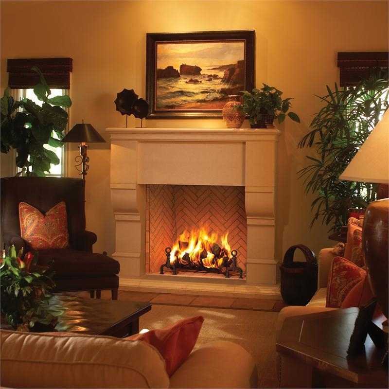 Hearth wood fireplace for Rumford fireplace insert