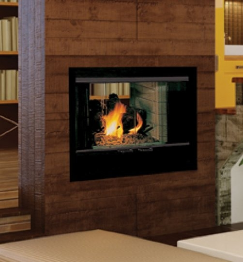 Hearth See Thru Wood Fireplace