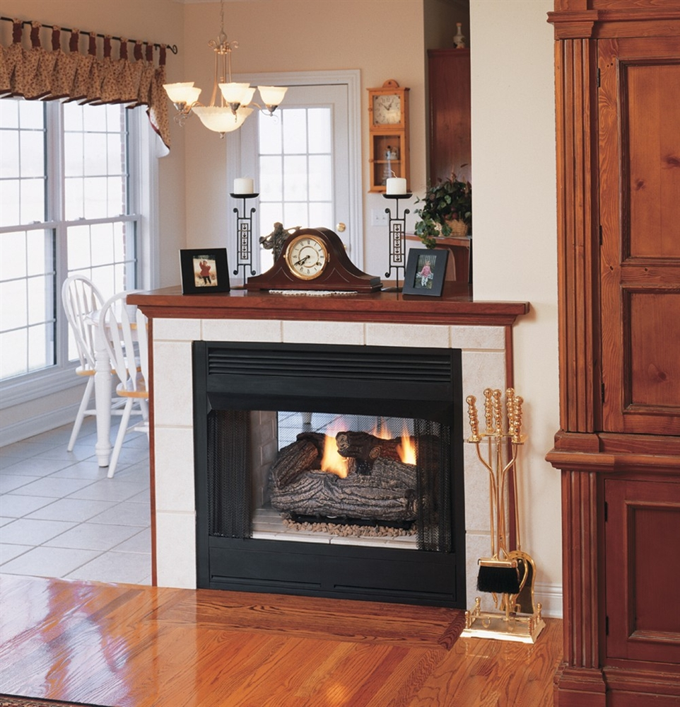 Vantage Hearth Vent Free Gas See-Thru Firebox